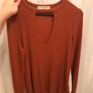 Urban outfitters Keyhole long sleeve top